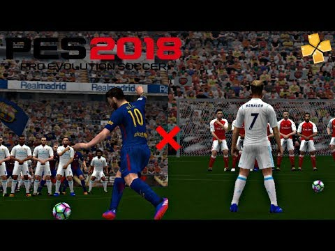 PES 2018 PSP • Free Kick Goals Compilation #1