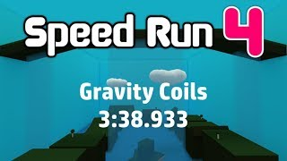 ROBLOX Speed Run 4 - 32 Levels (With Gravity Coils) in 3:38.933