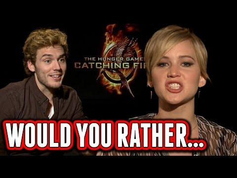 lawrence - For more ClevverTV goodies ▻▻ http://ow.ly/ktrcX Dana Ward puts Jennifer Lawrence, Josh Hutcherson, Sam Claflin, Jena Malone, Elizabeth Banks, Lenny Kravitz ...