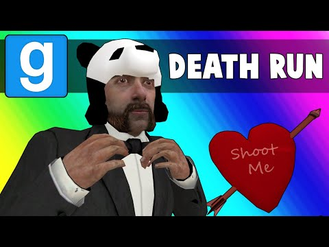 Gmod Death Run Funny Moments - Panda's Hot Valentines Date! (Garry's Mod) (видео)