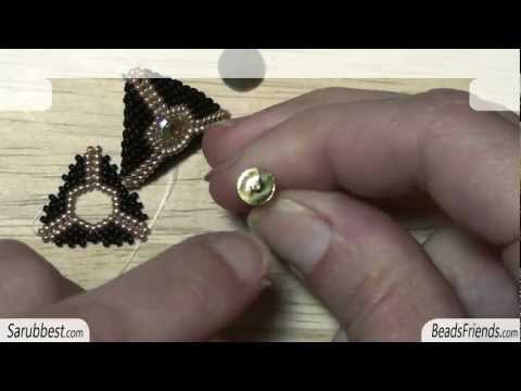 BeadsFriends: Peyote Stitch Tutorial - How to make a round opened triangle using Peyote Stitch