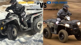 1. Polaris Sportsman 570 vs. Can-Am Outlander L 500,  2015 King of Value 4x4 ATV Shootout