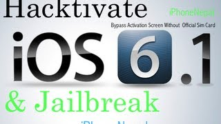 How To Jailbreak&Hacktivate IOS 6.1 IPhone 4/3Gs And Bypass Activation Screen Without Sim Card