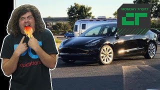 The first production Tesla Model 3 rolls off the line, mobile operators told to ban VPNs in China, Google backs news bots and Lucid Electric car hits 235 miles per hour. All this on Crunch Report.