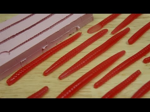 Making Simple Soft Plastic Worm, Fishing Lures