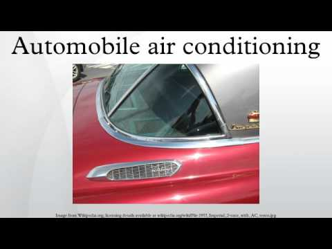 Automobile air conditioning