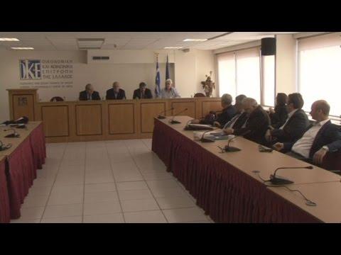 Κοινή συνέντευξη τύπου οι πρόεδροι των ΟΚΕ-ΕΣΕΕ-ΓΣΕΒΕΕ -ΟΙΥΕ