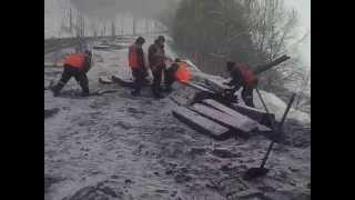 Последствия крушения поезда на ВСЖД
