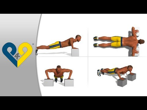 p4p_en - This exercise provides a slightly different angle compared to traditional push-ups allowing it to involve all of the chest muscle fibers and simultaneously i...