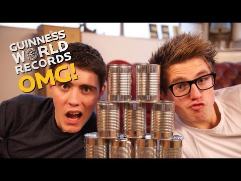 ep18 - Malfie have a go at speed building tin can pyramids! Will they break the record? SUBSCRIBE and stay in tune for more ▻ http://bit.ly/GWROMG SUGGEST some reco...