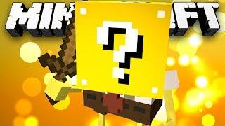 Minecraft Modded Minigame: LUCKY BLOCK SPONGEBOB?! (Lucky Block Modded Walls) - w/Preston&Friends