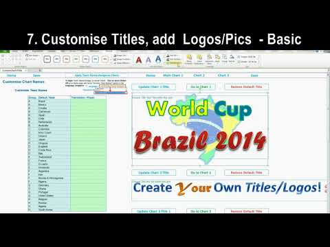 Excel World Cup 2014 Brazil Match Schedule (Customise And Create Your Own Posters!)