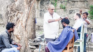 Hampi India  City new picture : The Indian Barber Shave (Hampi, India)