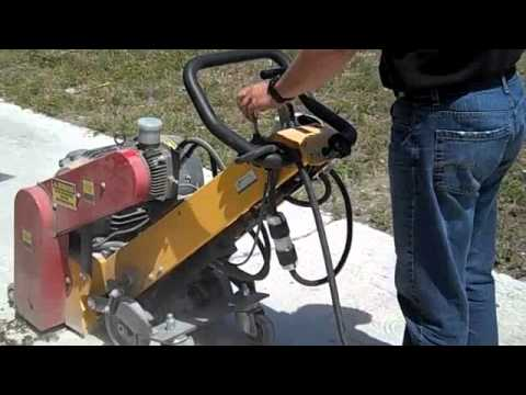 "SMITH FS350 self-propelled 15"" scarifier – Vanguard Concrete"