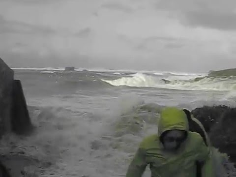 Video shows couple dragged away by waves