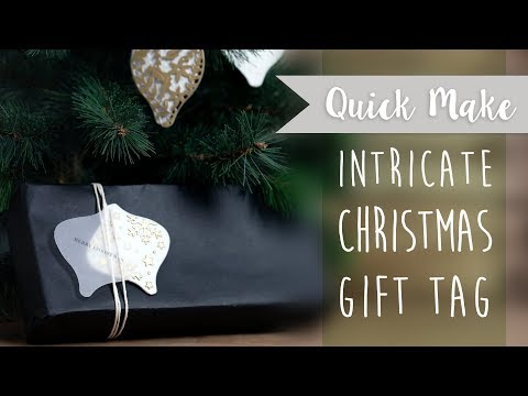 Intricate Christmas Gift Tag - Sizzix