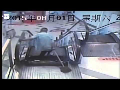 Ocurre otro accidente de escalera mecánica en China
