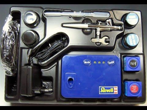 Revell Airbrush Basic Set mit Kompressor UNBOXING REVIEW [HD]