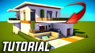 Minecraft: Big Modern House / Mansion Tutorial - [ How to Make Modern House ] 2017