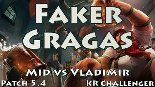 Faker plays a throwback matchup as he takes on Vladimir mid with Gragas in a very entertaining game. Subscribe for more Korean VODs & commentaries: http://bit.ly/j0kerSUBYou can find all Faker VODs at: http://bit.ly/FakerVODsCheck out more Season 5 VODs at: http://bit.ly/s5VODsPatch: 5.4Full player names:Jarvan: 야생동물브브Jinx: EDG DefTnTBlitzcrank: 하운하운Rumble: 삼성갤럭시 cuvee (Samsung Galaxy Cuvee)Gragas: SKT T1 FakerRiven: LORD MASTER KINGEzreal: r0b0copVladimir: 죠스아딸국대Braum: Jin Air XDLee Sin: KT ssumday