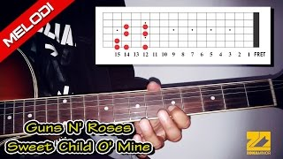 Tutorial Melodi GUNS N' ROSES - Sweet Child O' Mine (Jelas & Mudah)