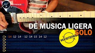 Como tocar DE MUSICA LIGERA Soda Stereo SOLO HD Guitarra Electrica