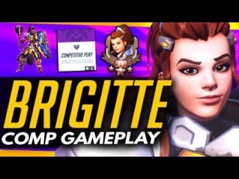 Overwatch | BRIGITTE 15 MINUTE FULL COMPETITIVE GAMEPLAY (New Hero)