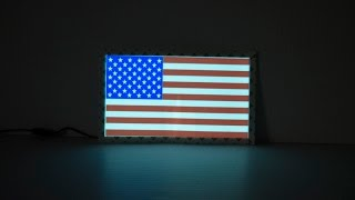 Light up American Flag Car Sticker Decal - Independence Day 4th of July Glow Car Decalhttps://eternityledglow.com/product/light-up-american-flag-car-sticker-decal/Shipped From USA Seattle WA– Delivery 2-5 Business DaysEL Sticker Panel Size: 7.75 inches Length X 4.63 inches HeightThe light up Car sticker looks amazing at night and gives your car a stunning glowing look perfect to celebrate Independence Day on Fourth of JulyOur car sticker works on EL (Electroluminescence) technologies for low power consumption and longer lifetime3 lighting mode:  1) steady light 2) flashes 3) offSuitable for any car that have Cigarette Lighter SocketThe light up Car sticker comes with 12V vehicle Cigarette Lighter Power Adapter and 10 foot long cableThe electroluminescent panel has 3M Adhesive tape on the edge of the panel that you can stick it easily to the car windowProduct Description:Want to give your car a stunning glowing look and also to be a patriot? The light up American flag car sticker decal is another cool gadget to decorate your car for the Fourth of July Independence Day.The light up American Flag EL car sticker looks beautiful at day light but not like the other regular stickers this EL sticker can be seen also at night time or in the dark. The light up car sticker has 3 lighting mode steady light, flash light and off. This EL Light up car sticker look amazing at night and will not leave anyone indifferent, just turn it on the American Flag will light up and will ensure that everyone will see your American flag sticker decal at night.Our car sticker works on EL (Electroluminescence) technologies for low power consumption and longer lifetime. The light up Car sticker comes with 12V vehicle Cigarette Lighter Power Adapter and 10 foot long cable, the electroluminescent panel have 3M Adhesive tape on the edge of the panel that you can stick it easily to the car window.The Installation is very easy and simple just plug the 12V Vehicle Cigarette Lighter Power Adapter to the Cigarette Lighter Socket and stick your sticker on the car window turn it on and see how the American flag lights up.