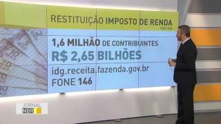 JORNAL NBR - 15.06.16: A Receita liberou nesta quarta-feria (15) o pagamento do primeiro lote de restituições do Imposto de Renda deste ano. Cerca de 1,6 mil...