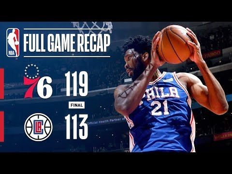Video: Full Game Recap: 76ers vs Clippers | Embiid Leads Sixers