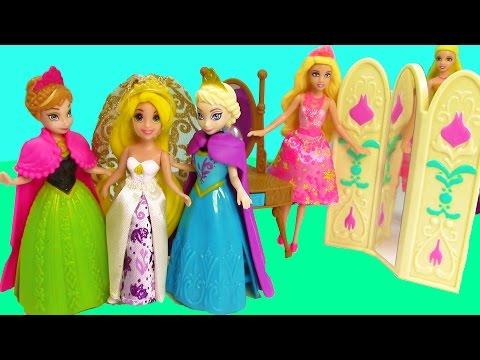 Disney Frozen Toys Queen Elsa Princess Anna Of Arendelle Magiclip Mini Barbie Dolls