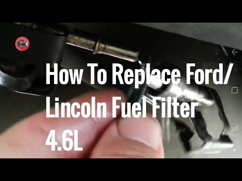How to replace a fuel filter on a Lincoln, Ford or Mercury car/truck.