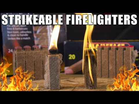 Strikeable Firelighters Compared for Survival & BBQ