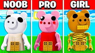NOOB vs PRO vs GIRL FRIEND PIGGY ROBLOX COFFIN DANCE MEME BUILD BATTLE! (Building Challenge)