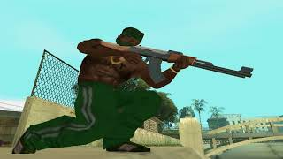 CJ (Grove Street) vs. The Ballas - GTA San Andreas