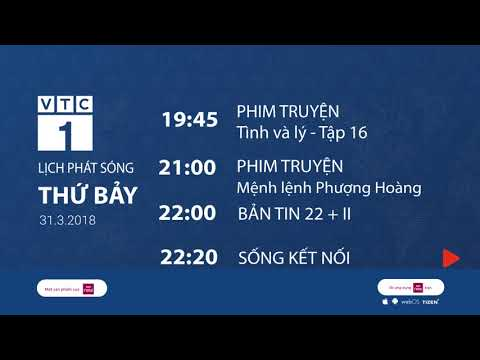 Lịch phát sóng ngày 31/3/2018 | VTC1 - Thời lượng: 117 giây.