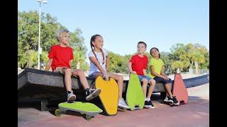 Wiggleboard-yellow.Balance exercise equipment.new ripstik youtube video