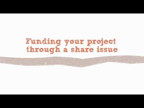 Funding a project through shares