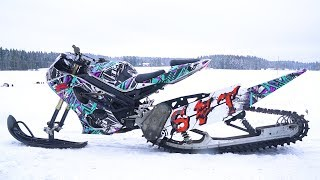 4. Suzuki 1000cc GSX-R Snow Bike 170HP!