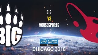 BIG vs mousesports - IEM Chicago 2018 - map1 - de_dust2 [Anishared & Smile]