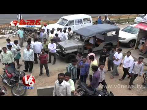 Bank robbery at Bhuplapalli Warangal district Teenmaar News