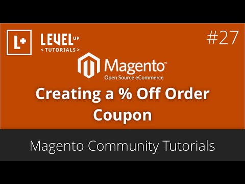 Magento Tutorials 48 (Community) – How to create a % Off Order Coupon