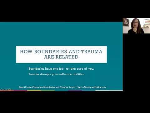 Boundaries, Self-Care and Healing from Trauma | Sarri Gilman