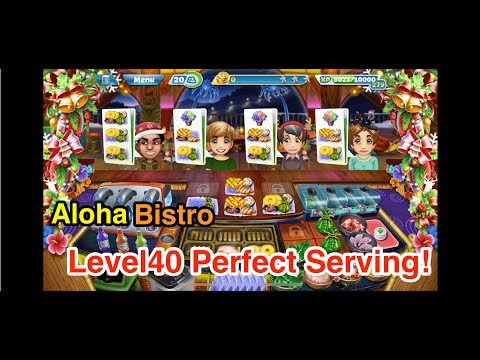 【Cooking Fever】Aloha Bistro Level40 3 Stars!!