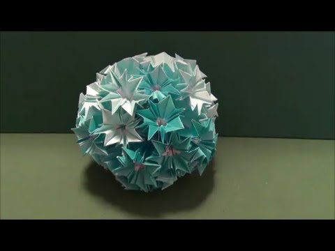 Kusudama Tutorial - 020 -- Ornamental Ball
