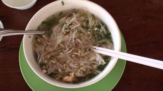 Typical Breakfast In Cambodia #3 (Suong Town) - Seafood Noodle Soup