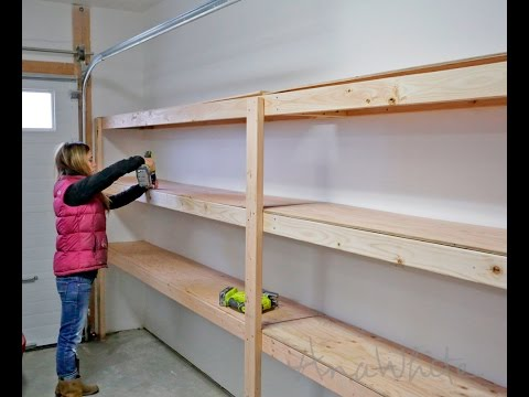 How to Build Garage Shelving