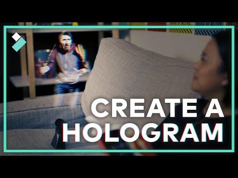 EASY Hologram Video Effect | Filmora9