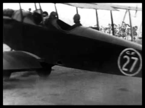 10 year old girl dances the Charleston on airplane wing in 1927