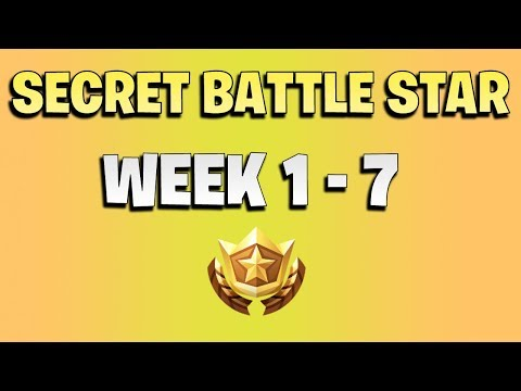 ALL Fortnite season 6 Secret Battle Star Locations week 1 to 7 -  Season 6